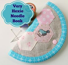 Very Hexie needle book tutorial from Very Berry Handmade