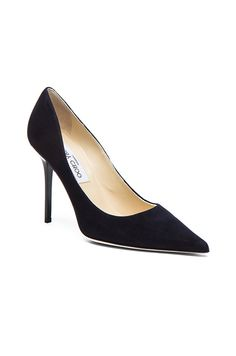 Jimmy Choo - Abel Suede Pointed Pumps