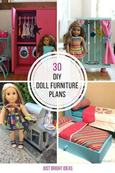 30 DIY American Girl Furniture Projects You Need to See So many great DIY 18 inch doll furniture plans! Love number These projects are the perfect fit for any 18 inch doll. Baby Doll Furniture, Girls Furniture, Furniture Plans, Furniture Projects, Cheap Furniture, Furniture Cleaning, Diy Projects, Furniture Online, Girls Dollhouse