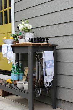 DIY BBQ Grill Cart The Home Depot DIY Workshop: BBQ Grilling Cart Favorite Vases for Flowers The Pleated Look