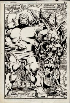 John Byrne - Legends #3 p22 - Darkseid Comic Art