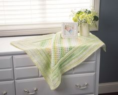 Baby Love Blanket - A sweet display of colors for baby's room. Shown in Lemon lime. Baby Afghan Crochet, Crochet Quilt, Baby Afghans, Knit Or Crochet, Baby Blankets, Easy Crochet, Blue Blanket, Square Blanket, Baby Shower Gifts