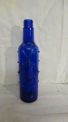 Incense burner blue glass with beads. $5.00, via Etsy.