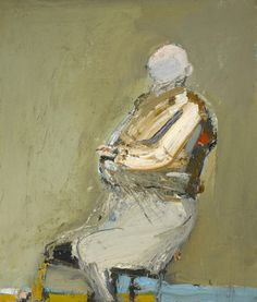 Nathan Oliveira (American, 1928-2010), Seated Man with Pink Face, 1958. Oil on canvas, 90.5 x 77.8 cm.