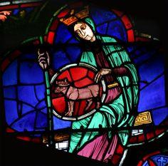 Cathédrale Notre Dame de Paris, rosace ouest, vitrail de la patience