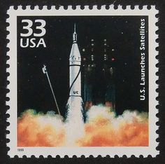 9855  Framed Postage stamp art  US Launches by PassionGiftStampArt, $12.90