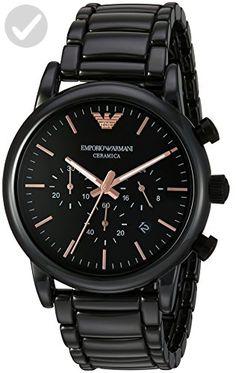 Emporio Armani Men's AR1509 Dress Black Quartz Watch - Mens world (*Amazon Partner-Link)