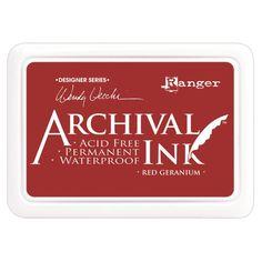 Wendy Vecchi Designer Series Archival Ink Pad - Red Geranium