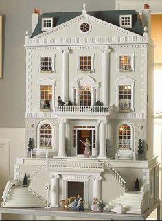Dollhouse by Carole Blake Dollhouse Kits, Victorian Dollhouse, Dollhouse Dolls, Dollhouse Miniatures, Modern Dollhouse, Fairy Houses, Play Houses, Doll Houses, Miniature Houses