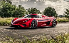 Download wallpapers Koenigsegg Regera, 4k, 2017 cars, hypercars, red Regera, HDR, Koenigsegg