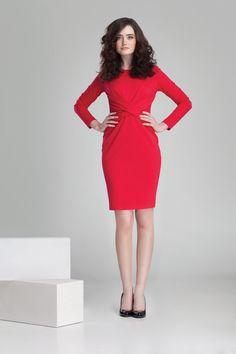Nowa kolekcja #danhen #jesienzima2014 #fw2014 #fashion #red  #christmasparty #dress #sukienka #elegancka #czerwien