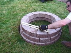 DIY simple brick firepit, in about an hour!