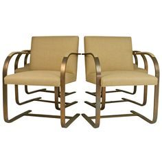"""Set of Six Bronze """"Brno"""" chairs by Ludwig Mies van der Rohe 