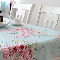 love this cottage tablecloth!