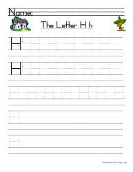 Letter H Handwriting Practice - Have Fun Teaching