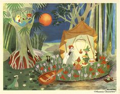 Rarely seen Moomin illustrations by Tove Jansson - illus - 壁紙