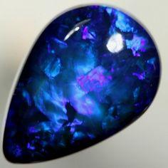 Deep Vibrant Blue Opal #Gemstones #Opals
