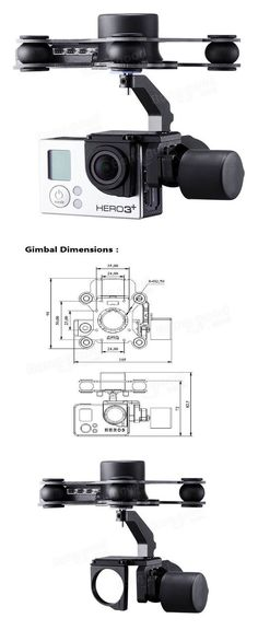 Upgrade Debugging Edition JIYI FPV G3-3D 3 Axis Gimbal For Gopro Hero3 3+ Hero4 Aerial Photography RC Camera Drone Accessories. #dronevideos #aerialphoto #omwhereidrone