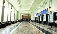 Wnętrze odnowionego dworca Gdynia Główna