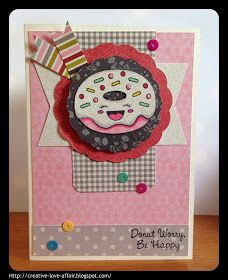 Creative Love Affair: Pretty Cute Stamps Feature - Donut Worry!