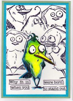 Tim Holtz - Crazy Birds  Inspired by Jan Hobbins for Sizzix