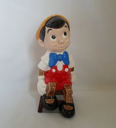 Vintage Walt Disney Prod   Ceramic Pinocchio by alsredesignvintage, $22.00