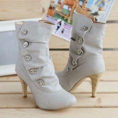 Sexy Rhinestone Women High Heeled Boots