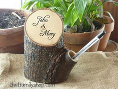 Rustic Guest Book Pen Holder Custom Names by thatfamilyshop, $46.00