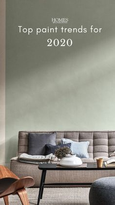 Paint trends 2020 Applying a new lick of paint to your walls is an excellent way to give your interiors a fresh-faced makeover. Here's a helping hand knowing which sample pots to buy, and what the biggest paint trends are for Indoor Paint Colors, Green Paint Colors, Wall Paint Colors, Paint Colors For Home, Room Colors, House Colors, Colours, Trending Paint Colors, Carpet Trends