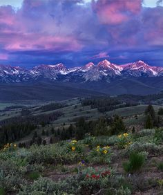 Sawtooth Sunrise - Click the picture For a Google+ Community about Idaho  http://fineartamerica.com/featured/sawtooth-sunrise-leland-howard.html