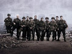 Fan made banner of my favorite miniseries & war film: Band of Brothers. Made in Photoshop using one of the official wallpapers as a backdrop, inspir. Band of Brothers Banner Band Of Brothers, Brothers Movie, Nina Hagen, Best Tv, The Best, Xavier Samuel, 101st Airborne Division, Facebook Timeline Covers, Band Memes