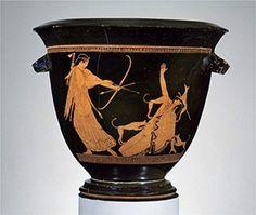 Vaso di Cuma, Campania, 470a.c., Cirneco dell'Etna