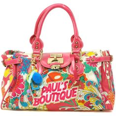 Paul's Boutique Bright Flower Logo Padlock Bag found on Polyvore