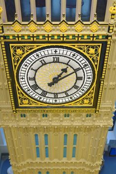 Photo about Magnificent lego scale model of the big ben tekn in London, uk. Image of bricks, detail, column - 104695298