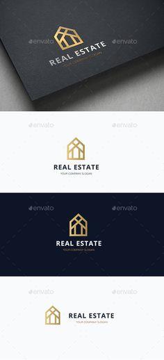Real Estate Logo Design Template Vector  logotype Download it here  http    b80c16e6e08b8