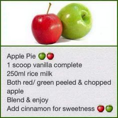 Apple pie Rice Milk, Apple Pie, Red Green, Cinnamon, Vanilla, Fruit, Sweet, Food, Canela