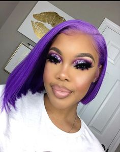 Beauty Lumina Straight Short Human Hair Wigs Density Brazilain Human Hair Bob Wigs For Black Women Lace Closure Wig Glam Makeup, Cute Makeup, Gorgeous Makeup, Hair Makeup, Witch Makeup, Dark Skin Makeup, Dramatic Makeup, Skull Makeup, Halloween Makeup