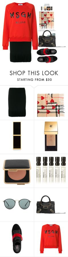 """Warm Hearts"" by hollowpoint-smile ❤ liked on Polyvore featuring H&M, Alexander Wang, Burberry, Tom Ford, Yves Saint Laurent, Estée Lauder, Le Labo, Ray-Ban, Balenciaga and Prada"