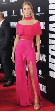 Rosie Huntington-Whiteley Schools Us in Rocking a Two-Piece on the Red Carpet | InStyle.com