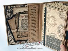 "Hello dear visitors! I'm excited to share another mini album I created using gorgeous Graphic 45 papers ""Craft Reflections"". It's not a ne..."