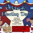 """Your students will vote """"YES!"""" to this 97 page unit celebrating ANY Election Day! Includes Literacy and Writers Workshop activities! $14.99"""