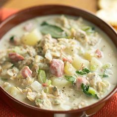 Clam Chowder- I would use cauliflower instead of potatoes!