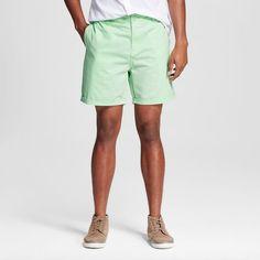 Chor Men's Slim Fit Chino Shorts - Mint (Green) 30