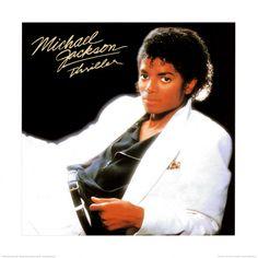 Poster Michael Jackson: Thriller pochette de l'album poster album Michael Jackson