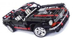LEGO Set MOC-1351 - Black American Muscle Car
