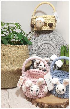 Crochet Teddy, Easter Crochet, Crochet Toys, Crochet Baby, White Bunnies, Bear Rug, Crochet Baskets, Etsy Crafts, Etsy Jewelry