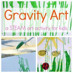 Gravity Art - A STEAM Art Activity for Kids