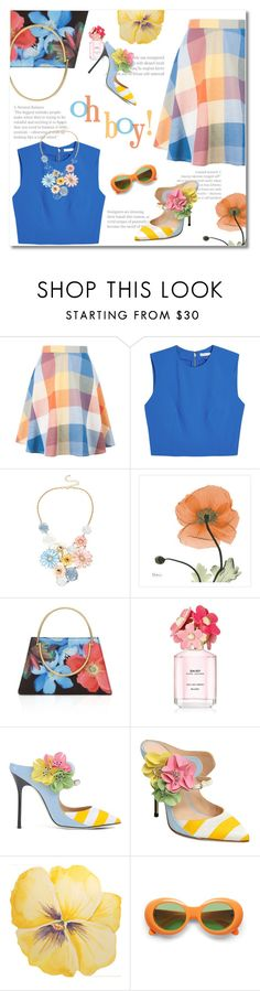 """""""check the flowers"""" by limass ❤ liked on Polyvore featuring Alice + Olivia, Mixit, Ted Baker, Marc Jacobs and Giannico"""