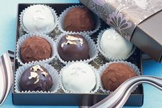 Truffles make a lovely present, especially when they are boxed and beautifully packaged like these ones!