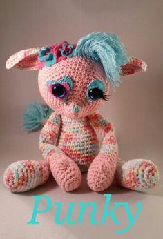 """Punky na het patroon van Esther Emaar """"Crochessie """"❤❤❤"""